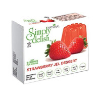 Simply Delish Natural Jel Dessert, Sugar Free, 0.3 Oz, 6-Pack - Fat Free, Gluten Free, Sugar Free, Lactose Free, Non Gmo, Kosher, Halal, Dairy Free, Natural (Strawberry)