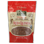 Natures Earthly Choice Organic Premium Red Quinoa, 12 Ounce - 6 Per Case.