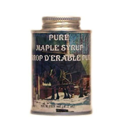 Ferguson Farms 100% Pure Vermont Maple Syrp, Grade A Dark, Round Tin 4oz