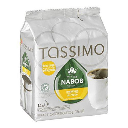 Tassimo Nabob 14 T Discs - Breakfast Blend - extra large size (123g / 4.3oz)