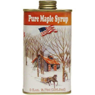 Ferguson Farms 100% Pure Vermont Maple Syrp, Grade A Dark, Classic Tin 1/2 Pint (8oz)