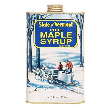 Ferguson Farms 100% Pure Vermont Maple Syrp, Grade A Dark, Vermont Tin 1 Pint 2 fl. oz. (18oz)