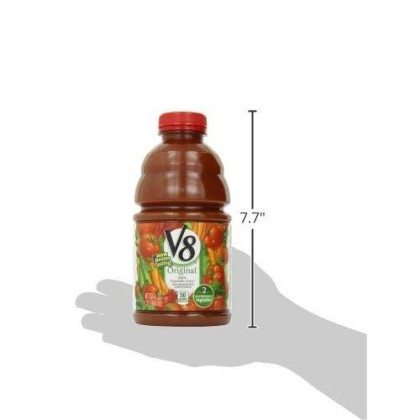 V8 Original 100% Vegetable Juice, 32 Oz. Bottle (Pack Of 8)