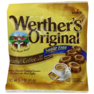 Werther'S Original Sugar Free Caramel Coffee Hard Candies, 1.46 Ounce Bag (Pack Of 12), Hard Candy, Bulk Candy, Individually Wrapped Candy Caramels, Caramel Candy Sweets, Bag Of Candy, Hard Candy Bulk