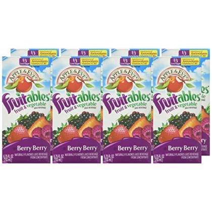 Apple & Eve Fruitables Fruit And Vegetable, Berry ,6.75 Fl Oz (8 Count)