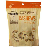 Woodstock Natural Whole Cashews, Roasted And Salted, 6 Ounce