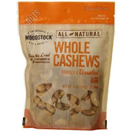 Woodstock Natural Whole Cashews, Roasted And Unsalted, 6 Ounce