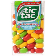Tic Tac Mints Fruit Adventure Singles 1 Ounce Pack (12 Count Case Pack)
