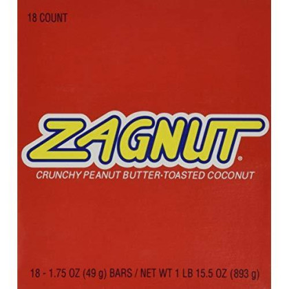 Zagnut Bar, 1.75 oz, 18 count