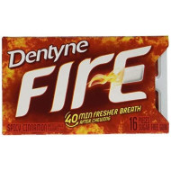 Dentyne Fire S/F Cinnamon Gum, Split To Fit, 16 Ct, 9 Pk