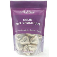 Madelaine Premium Chocolate Hearts Valentines Candy - Solid Milk Chocolate Mini Hearts Wrapped In Italian Foil - Gold, 8 Oz (227 G)