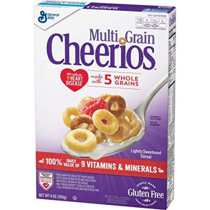 General Mills Multi Grain Cherrios Cereal, 9 Oz