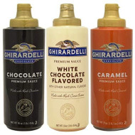 Ghirardelli Squeeze Bottles - Caramel, Chocolate &Amp; White Chocolate - Set Of 3