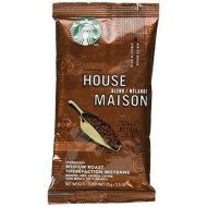 Starbucks Sbk11018190 Premium Single Pot Portions Preground House Blend Coffee Packets, Medium (Pack Of 18)
