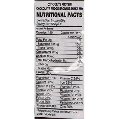 Healthsmart Foods Chocorite Protein Shake Mix Choc. Fudge Brownie (14.7Oz)