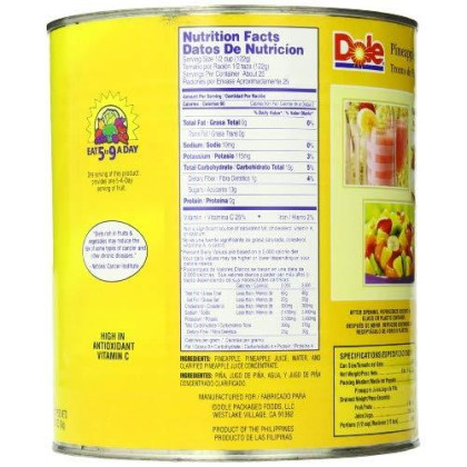 Dole Pineapple Chunks in Juice, 106 Ounce Cans (Pack of 6)
