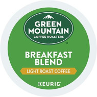 Green Mountain Coffee Roasters Breakfast Blend, Keurig Single-Serve K-Cup Pods, Light Roast Coffee, 96 Count