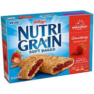 Kellogg's, Nutri-Grain Cereal Bars, Strawberry, 8 Count, 10.4oz Box (Pack of 4)