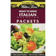 Walden Farms, Italian Dressing, 6 Packets, 1 oz Each