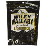 Wiley Wallaby Gourmet Australian Style Liquorice Gourmet Black Liquorice, 10-Ounce (Pack Of 4)