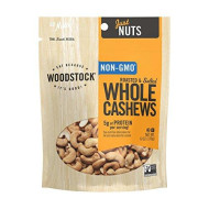 Woodstock Farms All Natural Roasted And Salted Extra Large Whole Cashews, 6 Ounce - 8 Per Case.