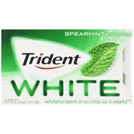 Trident White Sugar Free Spearmint Gum, 16 Count, 9 Pack