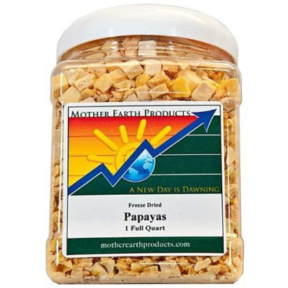 Mother Earth Products Freeze Dried Papayas, Quart Jar