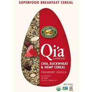 Nature'S Path Organic Qi'A Gluten Free Superfood Chia, Buckwheat &Amp; Hemp Cereal, Cranberry Vanilla, 7.9 Ounce
