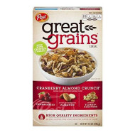 Post Great Grains Cranberry Almond Crunch Whole Grain Cereal 14 Oz (Pack Of 12)