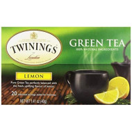 Twinings Tea Lemon Green Tea, 20 Ct