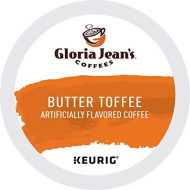 Gloria Jean's Butter Toffee, K-Cup for Keurig brevers, 24 Count (Pack of 2)