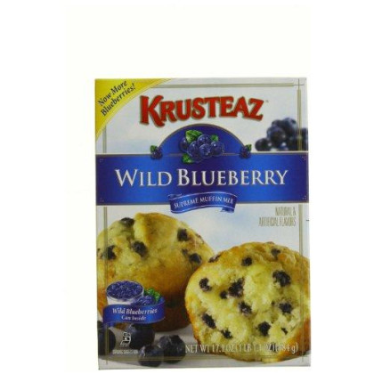 Krusteaz Wild Blueberry Supreme Muffin Mix 17.1 - Ounce Boxes (Pack of 6)