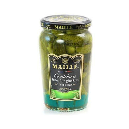 French Extra Fine Gherkins Maille-Cornichons Extra Fins-2 Jar Pack by Maille