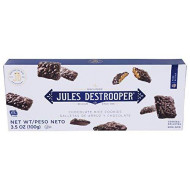 Jules Destrooper Rice Crisp Crunch, Belgian Chocolate Covered Cookies, 3.52-Ounce Box