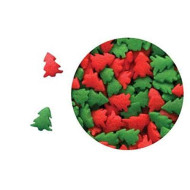 Edible Confetti Sprinkles Cake Cookie Cupcake Quins Christmas Red And Green Trees 8 Ounces