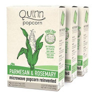 Quinn Snacks Microwave Popcorn - Made with Organic Non-GMO Corn - Great Snack Food for Movie Night - Parmesan & Rosemary, 7 Ounce