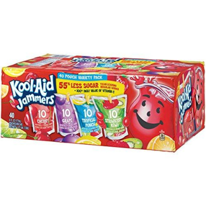 Kool Aid Jammers Variety Pack (40 Pouches)