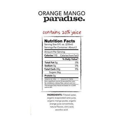 Purity Organic Juice Drink, Orange Mango Paradise, 16.9 Ounce (Pack Of 12)