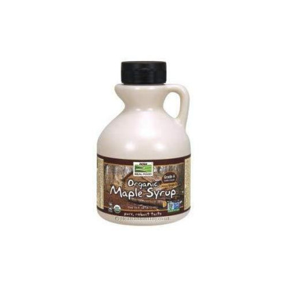 NOW Foods Organic Maple Syrp Grade A Dark Color Formerly Grade B