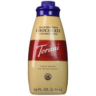 Torani White Chocolate Sugar Free Sauce, 64 Ounce