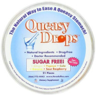 Three Lollies Queasy Drops Sugar Free Assorted For Nausea Relief, 21 Count