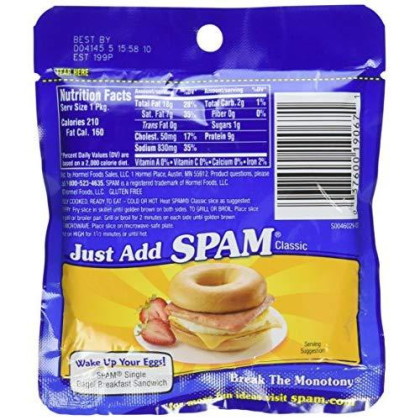 Spam Single, 3-Ounce Pouches (Pack Of 6)