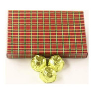 Scott'S Cakes Dark Chocolate Lemon Fruit Filling Candies With Chartreuse Foils In A 1 Pound Christmas Plaid Box