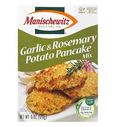 Manischewitz Roasted Garlic And Rosemary Potato Pancake Mix, 6 Ounce - 12 Per Case.