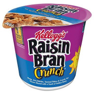 Kelloggs 1474 Breakfast Cereal, Raisin Bran Crunch, Single-Serve 2.8Oz Cup, 6/Box