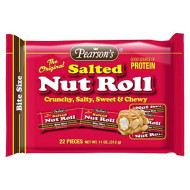 Pearsons Salted Nut Roll Bite Size 22 Pieces 11oz.