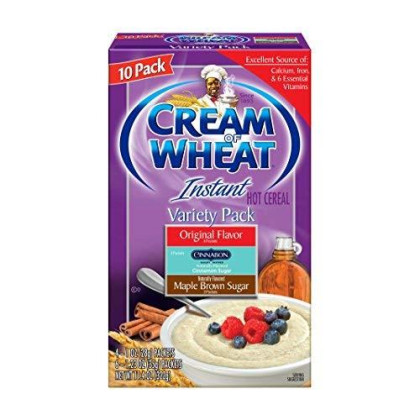 Cream of Wheat, Hot Cereal, Variety Pack,10 Packets Each Box of 11.4 Ounce (Pack of 12)