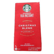 Starbucks Via 2016 Christmas Blend Ready Brew Instant Coffee 12 Pack