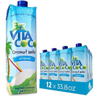 Vita Coco Coconut Water, Pure - Naturally Hydrating Electrolyte Drink - Smart Alternative To Coffee, Soda, And Sports Drinks - Gluten Free - 33.8 Ounce (Pack Of 12)