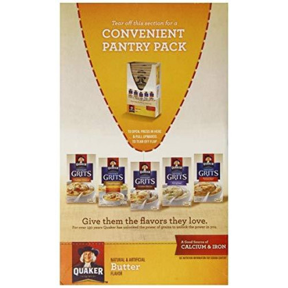 Quaker Instant Grits, Butter, 12 Ounce